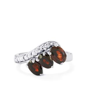 Cinnamon Zircon Ring in Sterling Silver 3.21cts