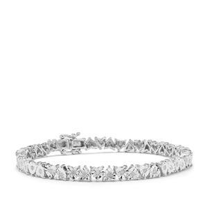 Diamond Halo Diamonds Bracelet in Sterling Silver 0.76ct