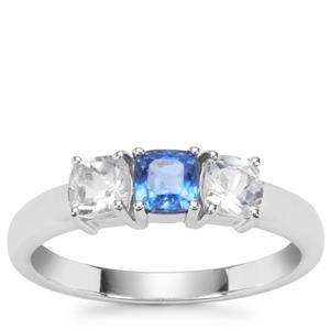 Daha Kyanite Ring with White Topaz in Sterling Silver 1.15cts