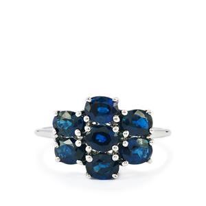 2.77ct Australian Blue Sapphire 9K White Gold Ring
