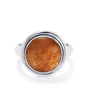 6ct Shinyanga Sunstone Sterling Silver Aryonna Ring