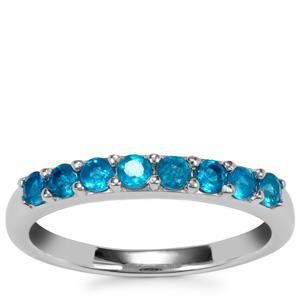 Madagascan Blue Apatite Ring in Sterling Silver 0.57ct