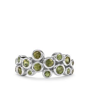 2.13ct Ambanja Demantoid Garnet Sterling Silver Ring