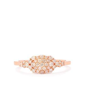 Pink Diamond Ring in 9K Rose Gold 0.52ct