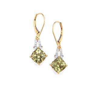 Csarite® & Diamond 18K Gold Lorique Earrings MTGW 5.38cts