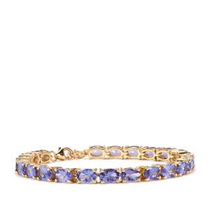 AAA Tanzanite Bracelet in 18K Gold 12.20cts