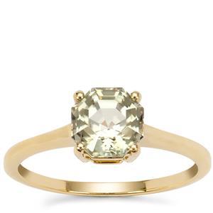 Asscher Cut Csarite® Ring in 9K Gold 1.64cts