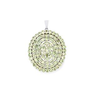 Tsavorite Garnet Pendant in Sterling Silver 15.68cts
