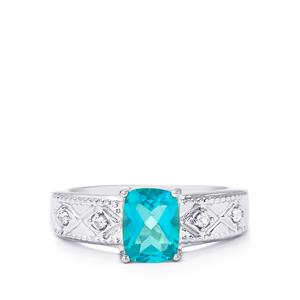 Batalha Topaz Ring with White Zircon in Sterling Silver 1.78cts