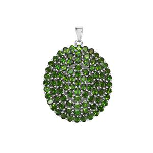 17.11ct Chrome Diopside Sterling Silver Pendant