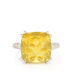 13.50ct Golden Fluorite Sterling Silver Ring