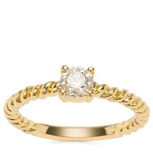 Yellow Diamond Ring in 18K Gold 0.47ct