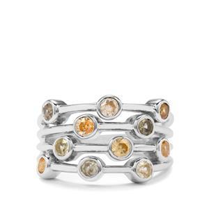 Ceylon Zircon Ring in Sterling Silver 1.87cts