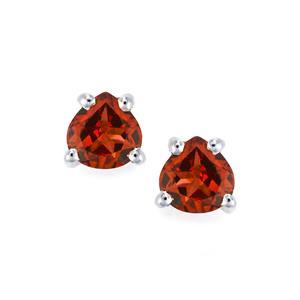 Rhodolite Garnet Earrings in Sterling Silver 1.07cts