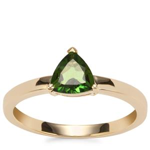 Chrome Tourmaline Ring in 10K Gold 0.59ct