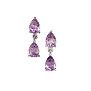2.43ct Moroccan Amethyst Sterling Silver Earrings