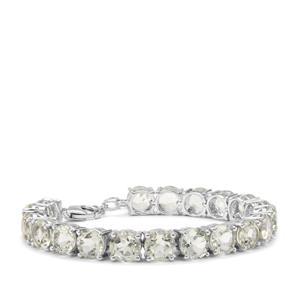 Prasiolite Bracelet in Sterling Silver 29.46cts