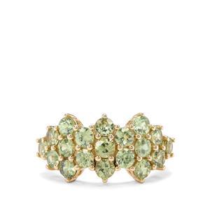 3.11ct Ambanja Demantoid Garnet 9K Gold Ring