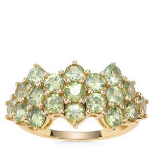 Ambanja Demantoid Garnet Ring in 9K Gold 3.11cts