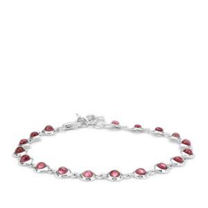 4.15ct Pink Tourmaline Sterling Silver Bracelet