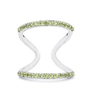 0.81ct Peridot Sterling Silver Ring