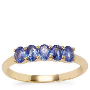 Ceylon Sapphire Ring in 10K Gold 0.77ct