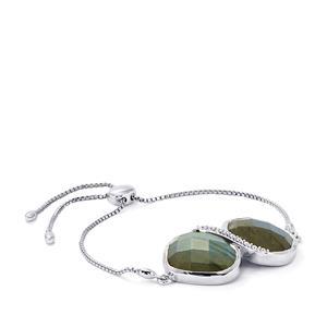 29.14ct Labradorite Sterling Silver Slider Bracelet