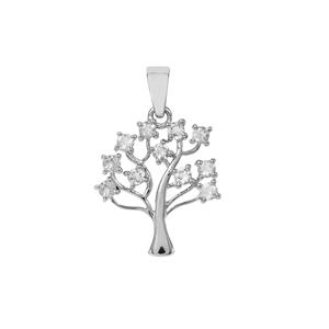 0.70ct 'Plush Diamond' Cuprian Sunstone Sterling Silver Pendant