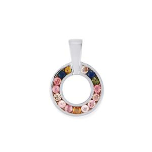 Rainbow Sapphire Pendant in Sterling Silver 1.79cts