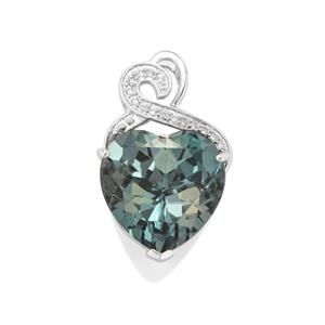 Versailles Topaz Pendant with White Topaz in Sterling Silver 11.66cts