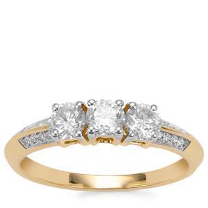 Diamond Ring in 18K Gold 0.80ct