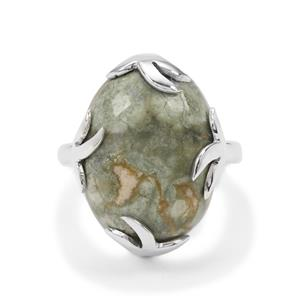 Rainforest Jasper Ring in Sterling Silver 14cts