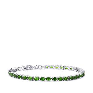Chrome Diopside Bracelet  in Sterling Silver 8.13cts