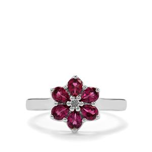 Octavian Garnet Ring with White Topaz in Sterling Silver 1.28cts