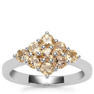 Ouro Preto Imperial Topaz Ring in Sterling Silver 1.20cts