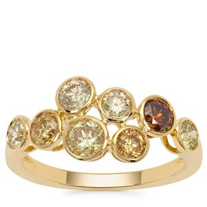 Multi-Colour Diamond Ring in 18K Gold 1.53cts