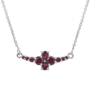 Rajasthan Garnet Necklace in Sterling Silver 1.20cts
