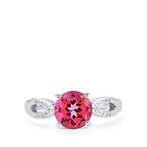 2.45ct Mystic Pink & White Topaz Sterling Silver Ring