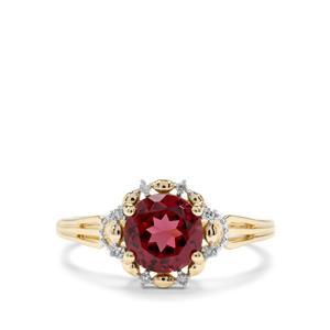 Mahenge Garnet & Diamond 9K Gold Ring ATGW 1.71cts