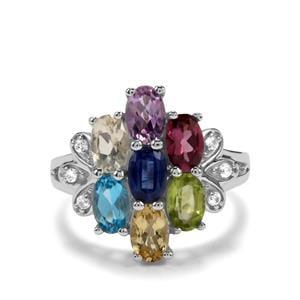 3.57ct Kaleidoscope Gemstones Sterling Silver Ring