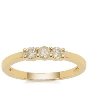 Yellow Diamond Ring in 9K Gold 0.33ct