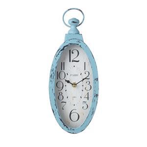 Blue Vintage look Oval Clock