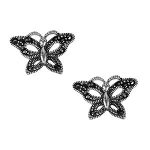 Natural Marcasite Jewels of Valais Earrings in Sterling Silver 0.30ct