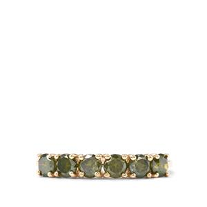 Green Diamond Ring in 10K Gold 1.05ct