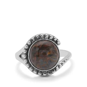Arizona Pietersite Ring in Sterling Silver 4cts