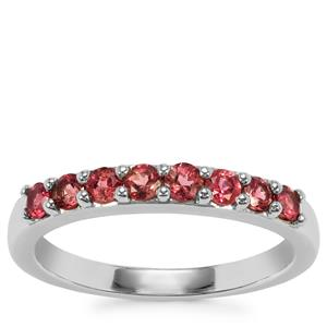 Natural Pink Tourmaline Ring in Sterling Silver 0.52cts