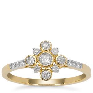 Diamond Ring in 9K Gold 0.34ct