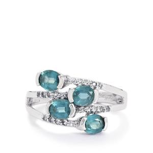 Orissa Kyanite & White Topaz Sterling Silver Ring ATGW 1.97cts
