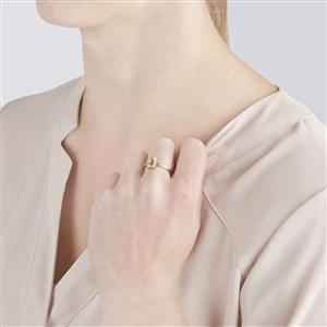 Canary Kunzite Ring  in 10k Gold 1.25cts