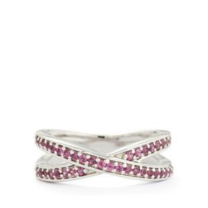 0.52ct Rhodolite Garnet Sterling Silver Ring